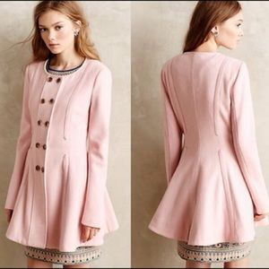 Anthropologie Parker Peacoat Pale Pink